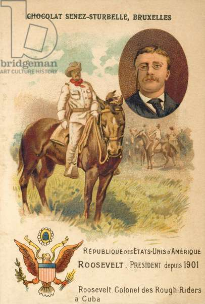 Theodore Roosevelt, American soldier and politician (chromolitho)