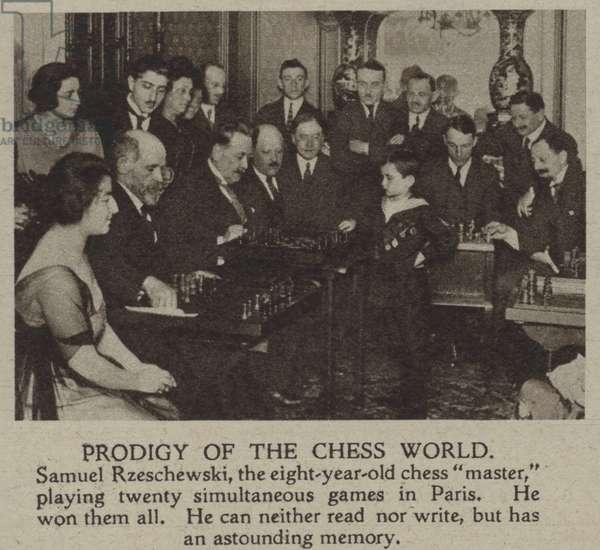 Prodigy of the chess world (b/w photo)