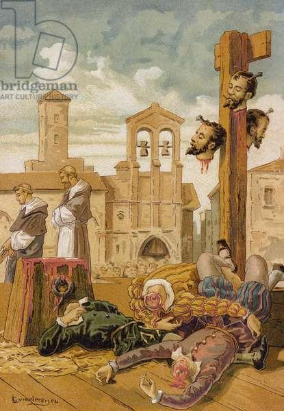 The revenge of Charles V (chromolitho)