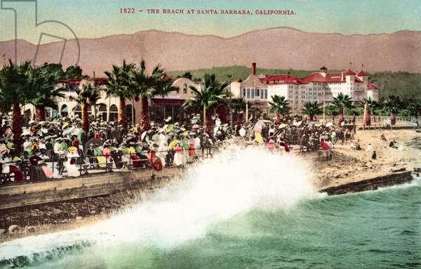 Beach, Santa Barbara, California (colour photo)
