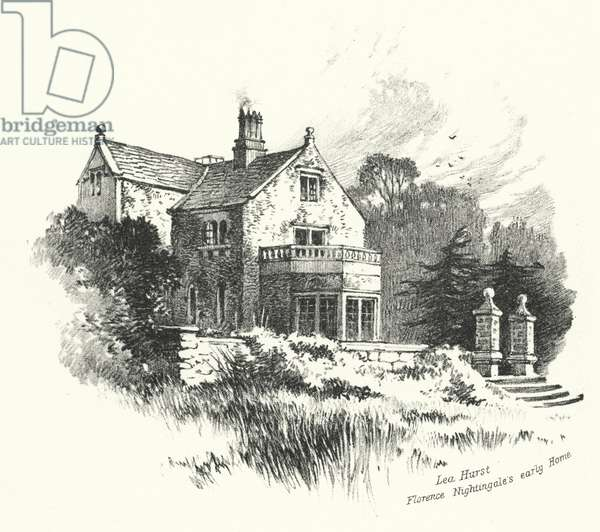 Lea Hurst, Florence Nightingale's early Home (engraving)