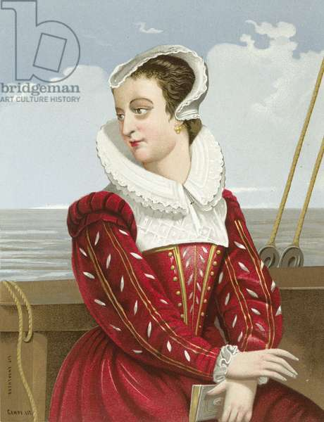 Mary Queen of Scots (chromolitho)