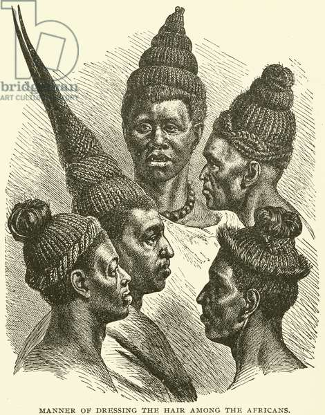 Manner of dressing the hair among the Africans (engraving)