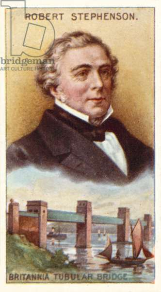 Robert Stephenson, Britannia Tubular Bridge (colour litho)