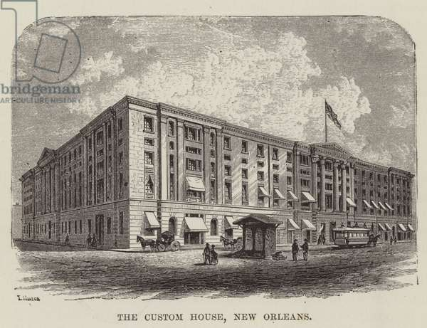The Custom House, New Orleans (engraving)
