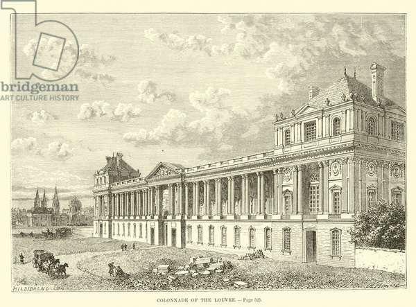 Colonnade of the Louvre (engraving)