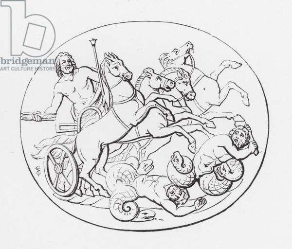 Jupiter overthrowing the Titans (engraving)