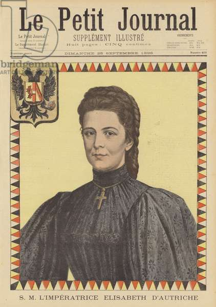 Empress Elisabeth of Austria (colour litho)