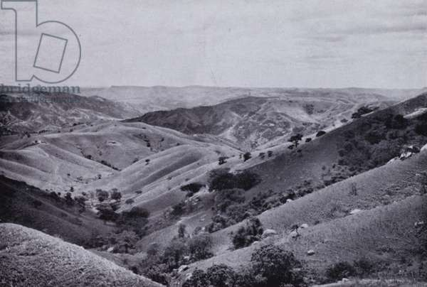 Valley of 1000 Hills, from Drummond (b/w photo)
