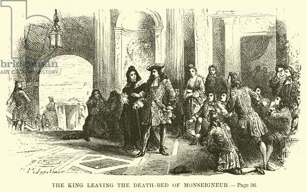 The King leaving the death-bed of Monseigneur (engraving)