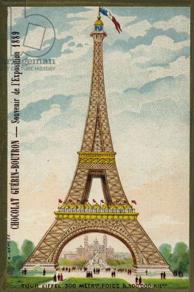 Eiffel Tower, Paris (chromolitho)
