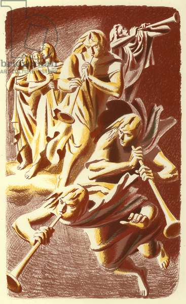 Revelation of St John: The Seven Trumpets (colour litho)