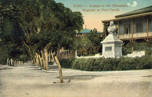 Wagham Monument, Port Taufiq, Suez (colour photo)