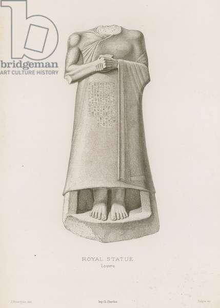 Royal Statue, Louvre (engraving)