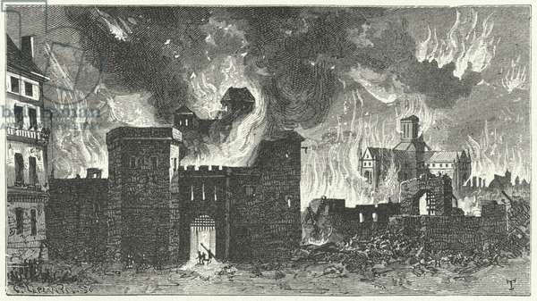 The Great Fire of London, 1666 (engraving)
