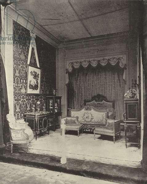 The Bedroom of Marie Antoinette (b/w photo)