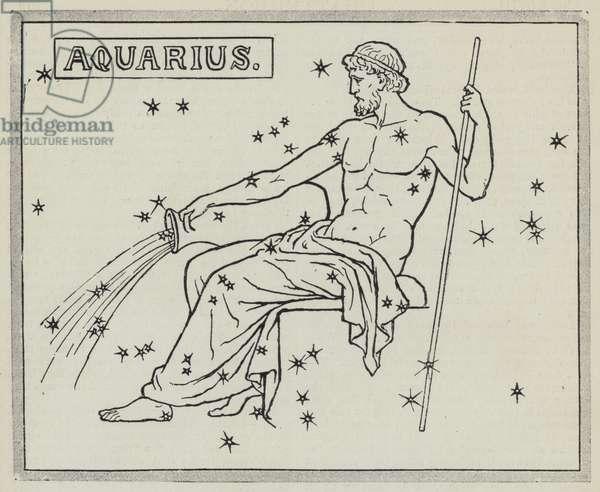 Signs of the zodiac: Aquarius (engraving)