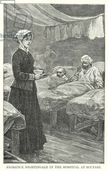 Florence Nightingale in the Hospital at Scutari (engraving)