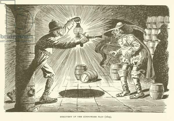 Discovery of the Gunpowder Plot (1605) (engraving)