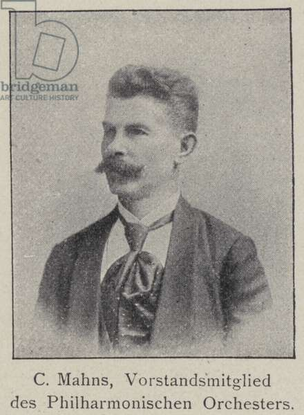 C Mahns, member of the Board of the Berlin Philharmonic Orchestra (b/w photo)