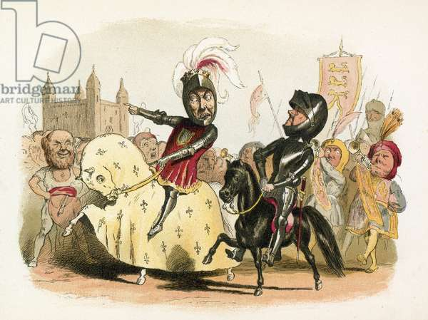 The Black Prince and the French King entering London