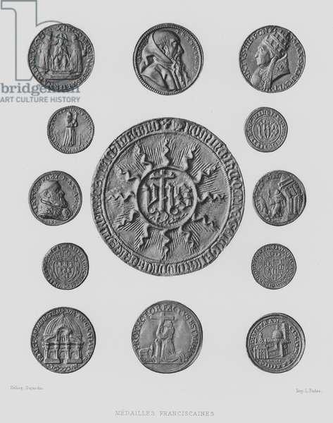 Franciscan medals (litho)