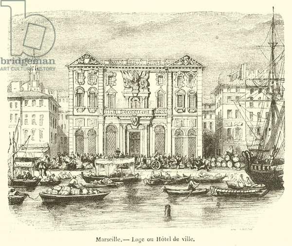 Marseille, Loge ou Hotel de ville (engraving)