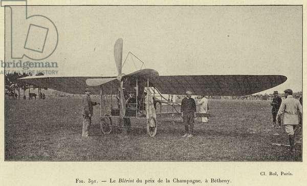Le Bleriot du prix de la Champagne, a Betheny (engraving)