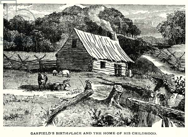 Garfield's birthplace and the home of his childhood (litho)