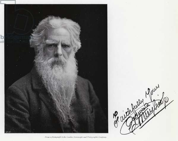 Portrait of Eadweard Muybridge (b/w photo)