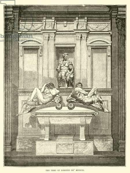 The Tomb of Lorenzo de' Medicis (engraving)