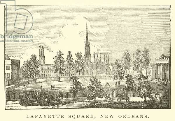 Lafayette Square, New Orleans (engraving)