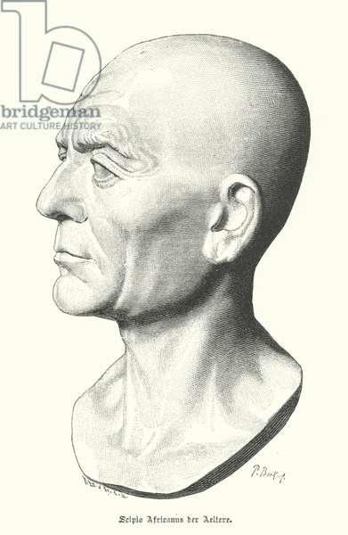 Scipio Africanus the Elder, Roman general of the Punic Wars (engraving)