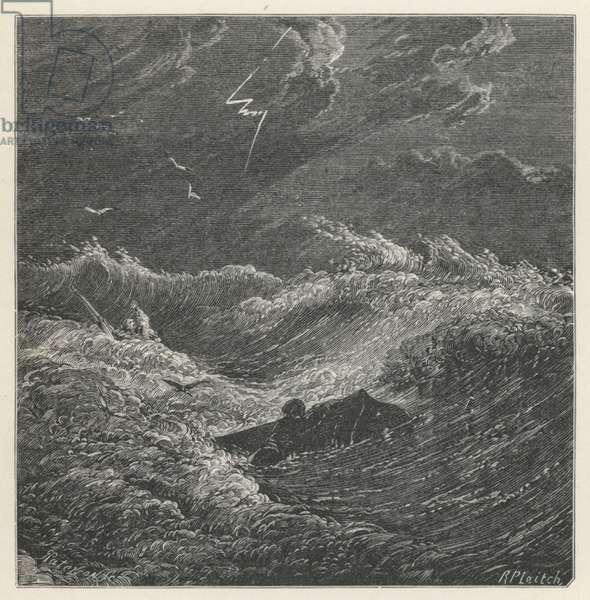 Mrs Shelley, The Boat Adrift (engraving)