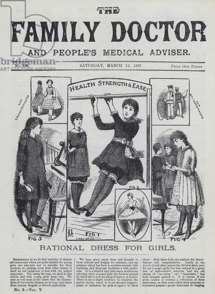 Rational dress for girls (engraving)