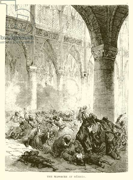 The Massacre at Beziers (engraving)