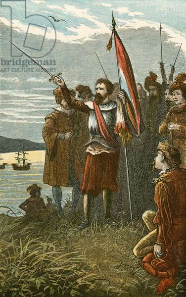 Columbus takes possession of San Salvador for Spain