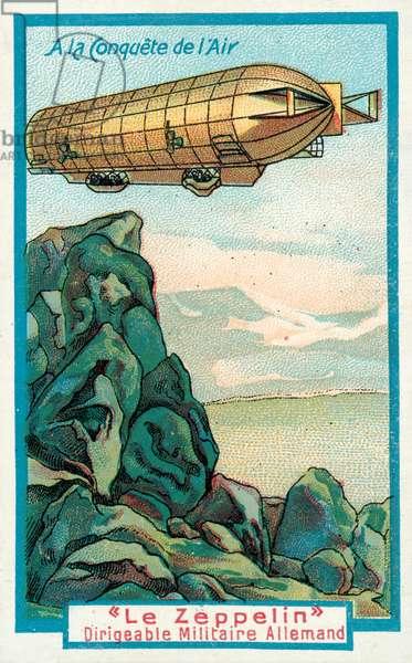 German military airship Zeppelin (chromolitho)