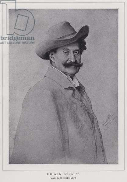 Johann Strauss the Younger, Austrian composer (litho)