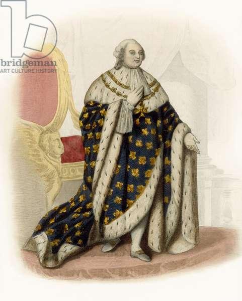 Louis XVI (coloured engraving)