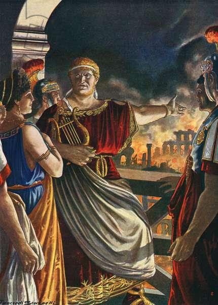 Nero watching Rome burn