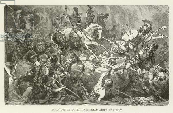 Destruction of the Athenian Army in Sicily (engraving)