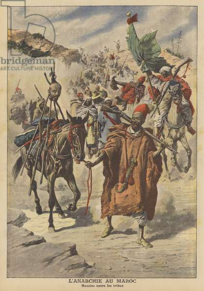 Anarchy in Morocco (colour litho)