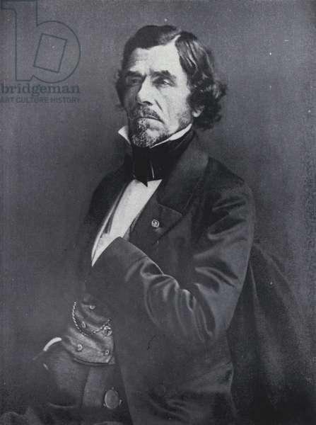 The painter Eugene Delacroix (b/w photo)