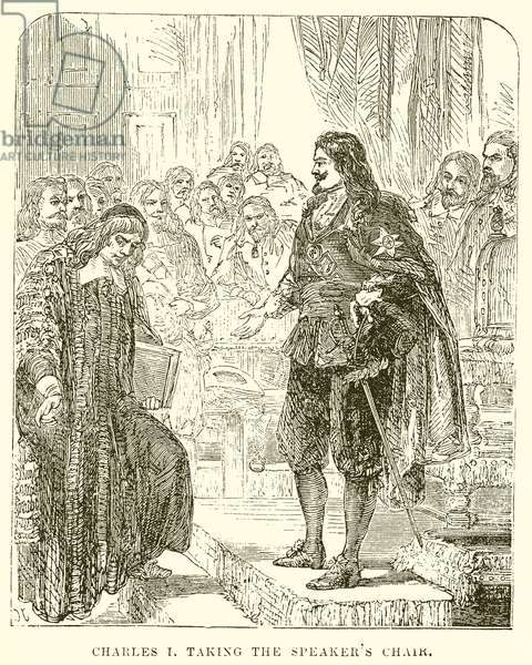 Charles I taking the Speaker's Chair (engraving)
