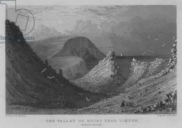 The Valley of Rocks near Linton, North Devon (engraving)