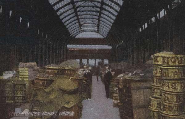 Covent Garden Market, London (coloured photo)