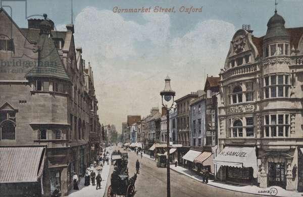 Cornmarket Street, Oxford (coloured photo)