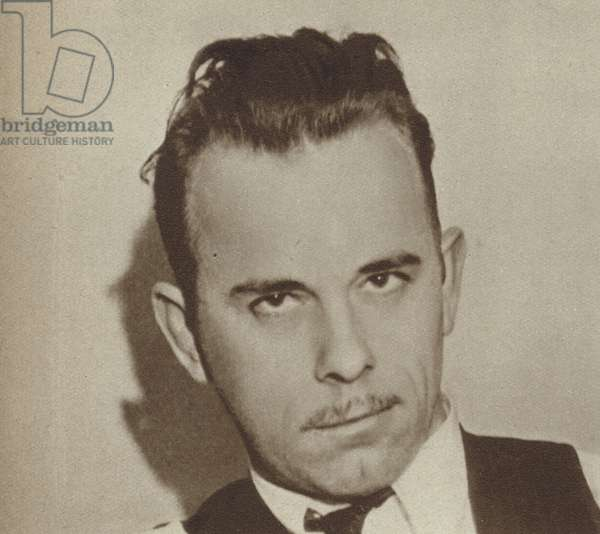 John Dillinger, American gangster and bank robber (b/w photo)