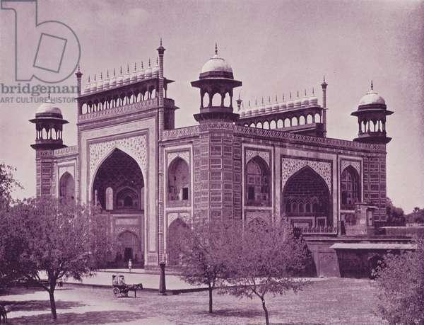 Gate of the Taj, Agra (b/w photo)